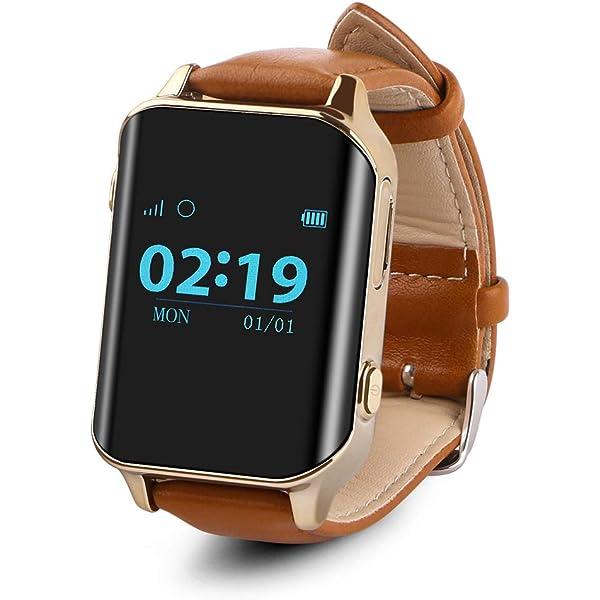 Smartwatch para el Anciano SOS Impermeable GPS Reloj ...