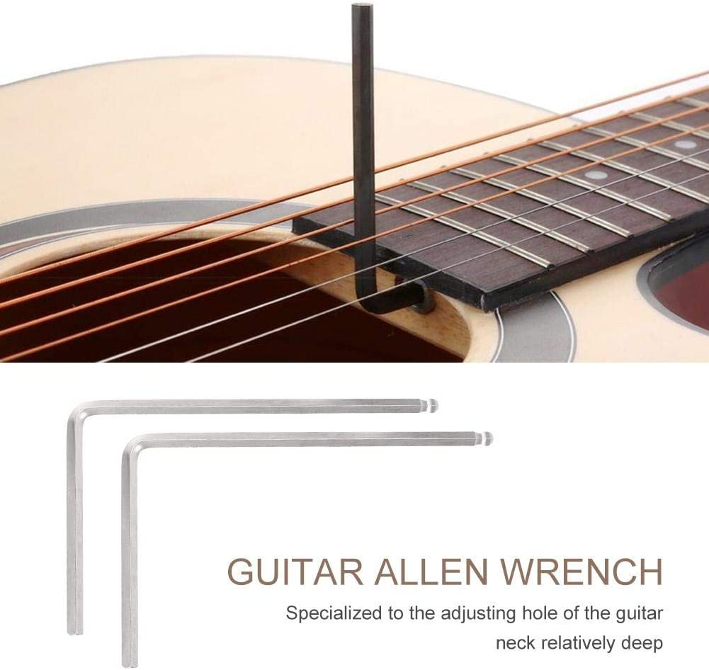 Dilwe 2 PCS Cl/é de Guitare 5mm Boule pour Martin Guitare Acoustique Outil de cl/é en m/étal 4mm