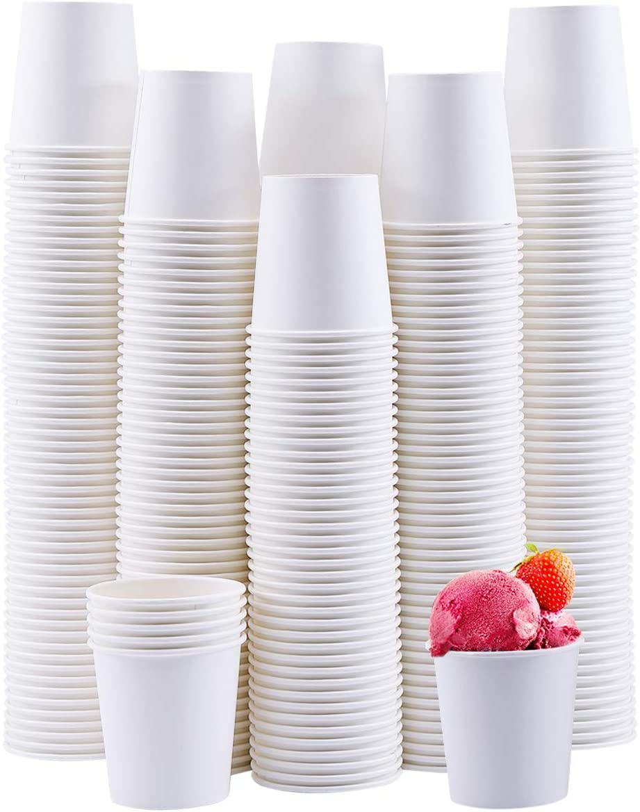 300Pack 4oz Disposable Paper Cups, Espresso Cups,Small Mouthwash Cups ,Hot/Cold Beverage Drinking Cup for Party,Travel and Event