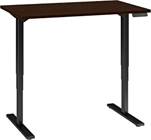 Move 80 Series 48W Height Adjustable Standing Desk in Mocha Cherry with Black Base