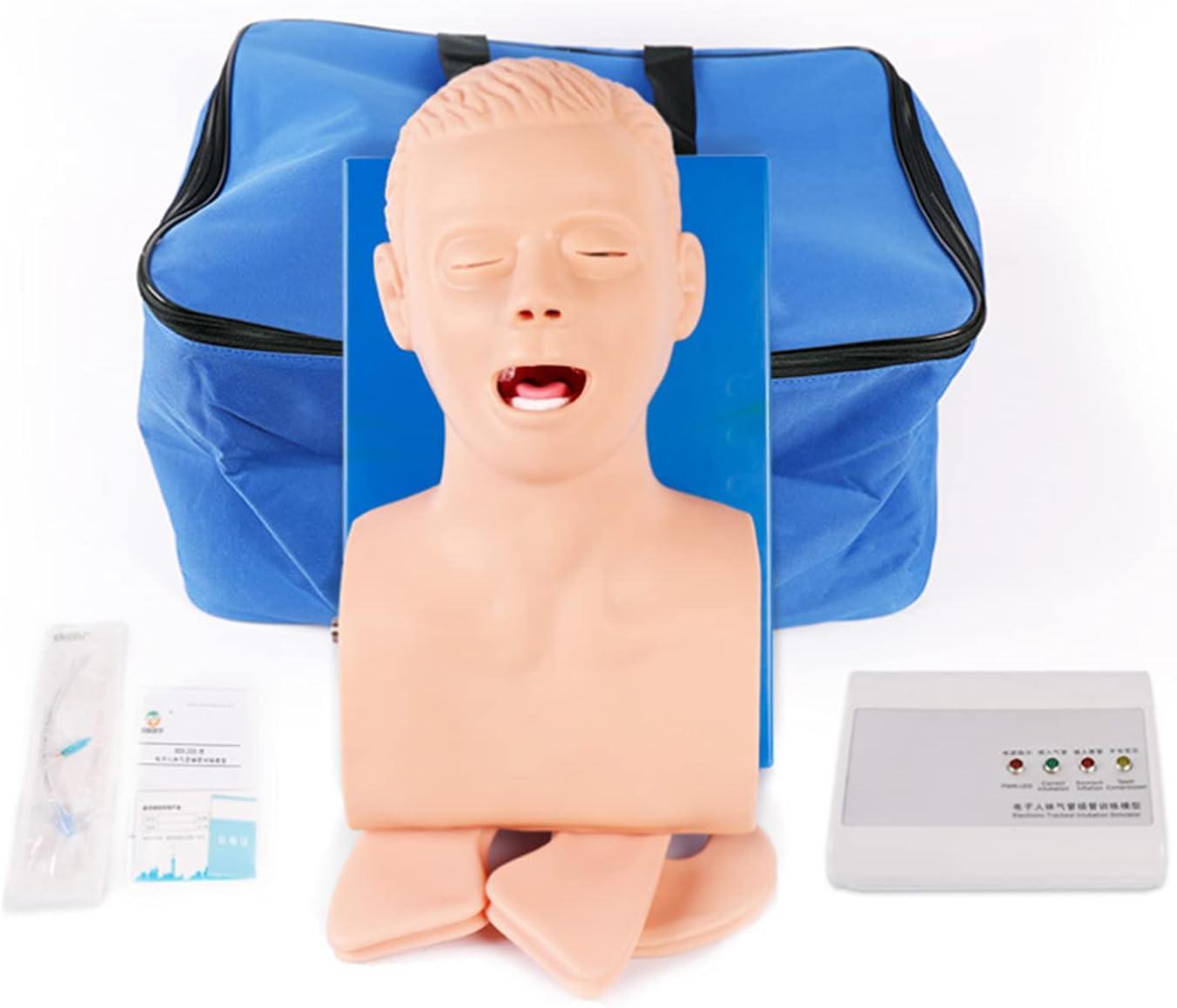 BBYYT Intubación Maniquí Enseñando Modelo, Oral Intubación Nasal Vías respiratorias Gestión Entrenador Intubación Capacitación Simulador Modelo, por Ciencias Laboratorio Educación