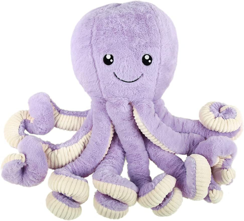 DENTRUN Octopus Stuffed Animals, Octopus Plush Doll Play Toys for Kids Girls Boys Adults Birthday Xmas Gift Present 7/16/24/32 Inches, 5 Colors