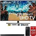 """Samsung UN55NU8000 55"""" NU8000 Smart 4K UHD TV (2018) with Samsung HW-N550/ZA 3.1 Channel Soundbar System and 1 Year Warranty Bundle"""
