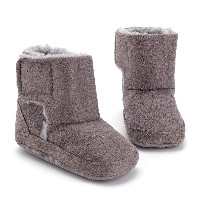 Morbuy Zapatos de Bebe Pelusa Primeros Pasos, Niño y Niña Recién Nacido Cuna Suela Blanda Antideslizante Zapatillas: Amazon.es: Ropa y accesorios