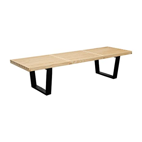 Brilliant Mod Made 5 Ft Contemporary Mid Century Modern Platform Natural Wooden Slat Bench Natural Ncnpc Chair Design For Home Ncnpcorg