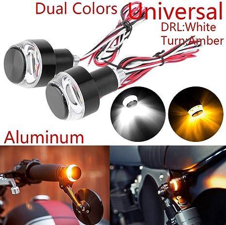 EBTOOLS indicatori di direzione per moto 2 pezzi 12V Manubrio universale LED Indicatore di direzione a forma di mano Manopola Spina di estremit/à