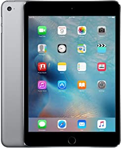 Apple iPad mini 4 (32GB, Wi-Fi + Cellular, Space Gray) (Renewed)