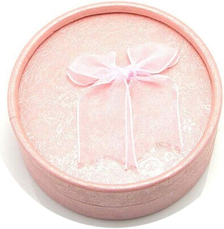 KnSam Jewelry Box Cardboard Round Bow-Knot Gifts Box 8x3.3CM