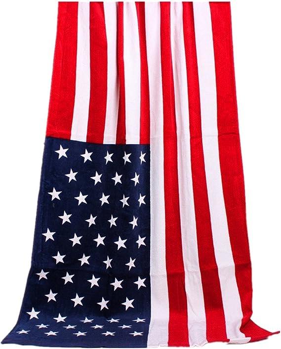 100% algodón toalla de playa, toalla de piscina, clásico americano bandera (28