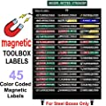 "Ultimate Magnetic Tool Box Organizer Labels (Green edition) organize boxes, drawers & cabinets ""Quick & Easy"", fits all brands of 'Steel' tool chest Craftsman, Snap-on, Mac, Matco & Cornwell …"