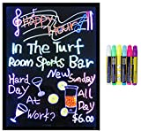 LED Message Writing Board - Framed 23'' x 39'' and 8 Color Pens