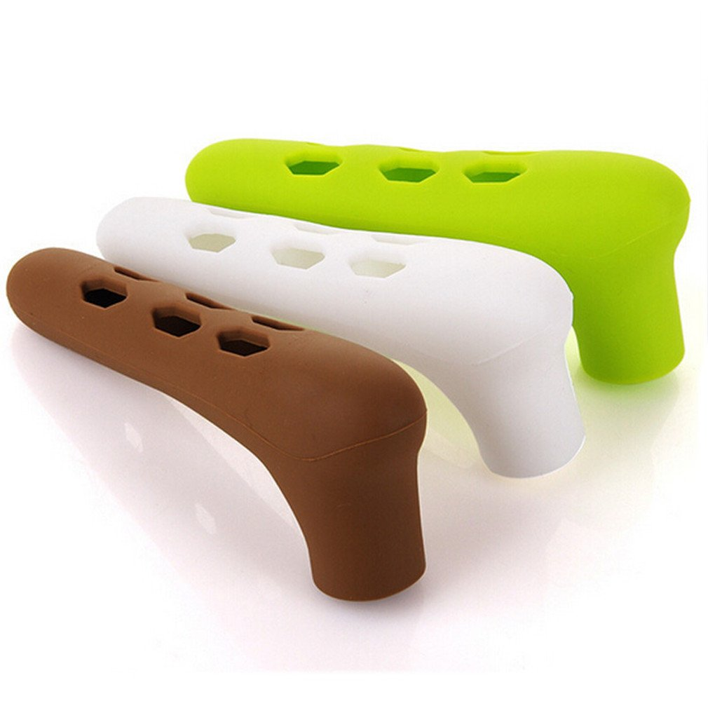 Lalang Silicone Kids Child Door Handle Cover Safety Protective Door Knob Crashproof coffee