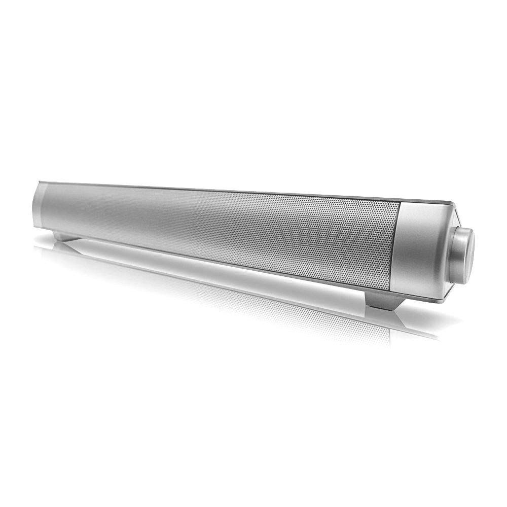 Inalámbrico Barra de Sonido, manfore Barra de Sonido Subwoofer Integrado Multifuncional Altavoz Apoyo TF Tarjeta/3,5mm Entrada Auxiliar Altavoz Barra de Sonido Bluetooth con Mando a Distancia