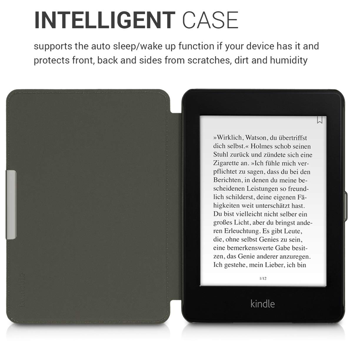 10. Gen - 2018 - Book Style PU Leather Protective e-Reader Cover Folio Case kwmobile Case for  Kindle Paperwhite Red//Turquoise//Orange