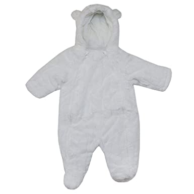 9e4f2793f827 Baby Snowsuit Boys Girls EX UK Store Faux Fur Hooded Warm All in ONE ...