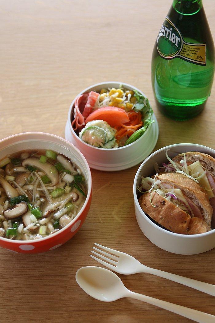 HAKOYA De la famille mushroom lunch green polka dots 50 904 japan import