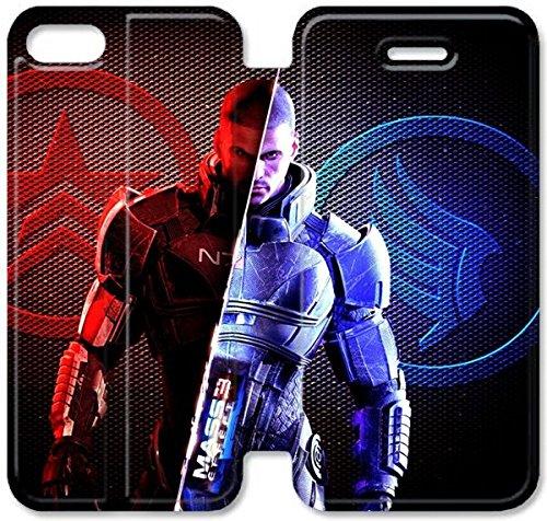 Coque iPhone 6 6s 4,7 pouces Coque Cuir, Klreng Walatina® 6 6s PU Cuir de portefeuille Coque design Mass Effect par le caractère Armure G6V9Fw