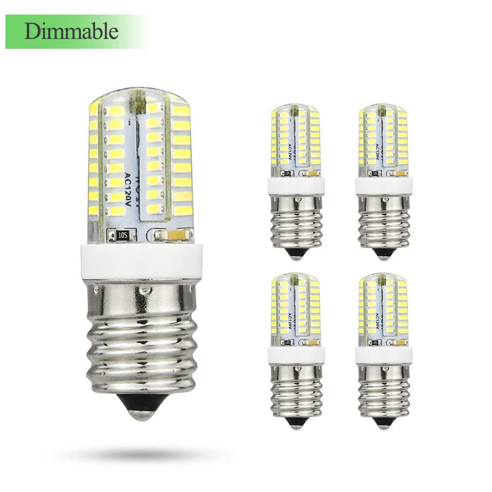 E17 LED Light Bulbs 3Watt(25W Halogen Equivalent) 120V, 215Lumens,Warm White 3000K, 360 ° Beam Angle, Dimmable E17 Intermediate Base Appliance Microwave Oven Light Bulbs, Ceiling Table Lamp 5 Pack