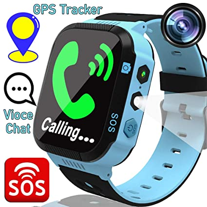 Kids Smart Phone Watches for 3-12 Ages Girls Boys Toddler GPS Tracker  Two-Way Call SOS Voice Chat Alarm Flashlight Touch Screen Gizmo Games  Camera