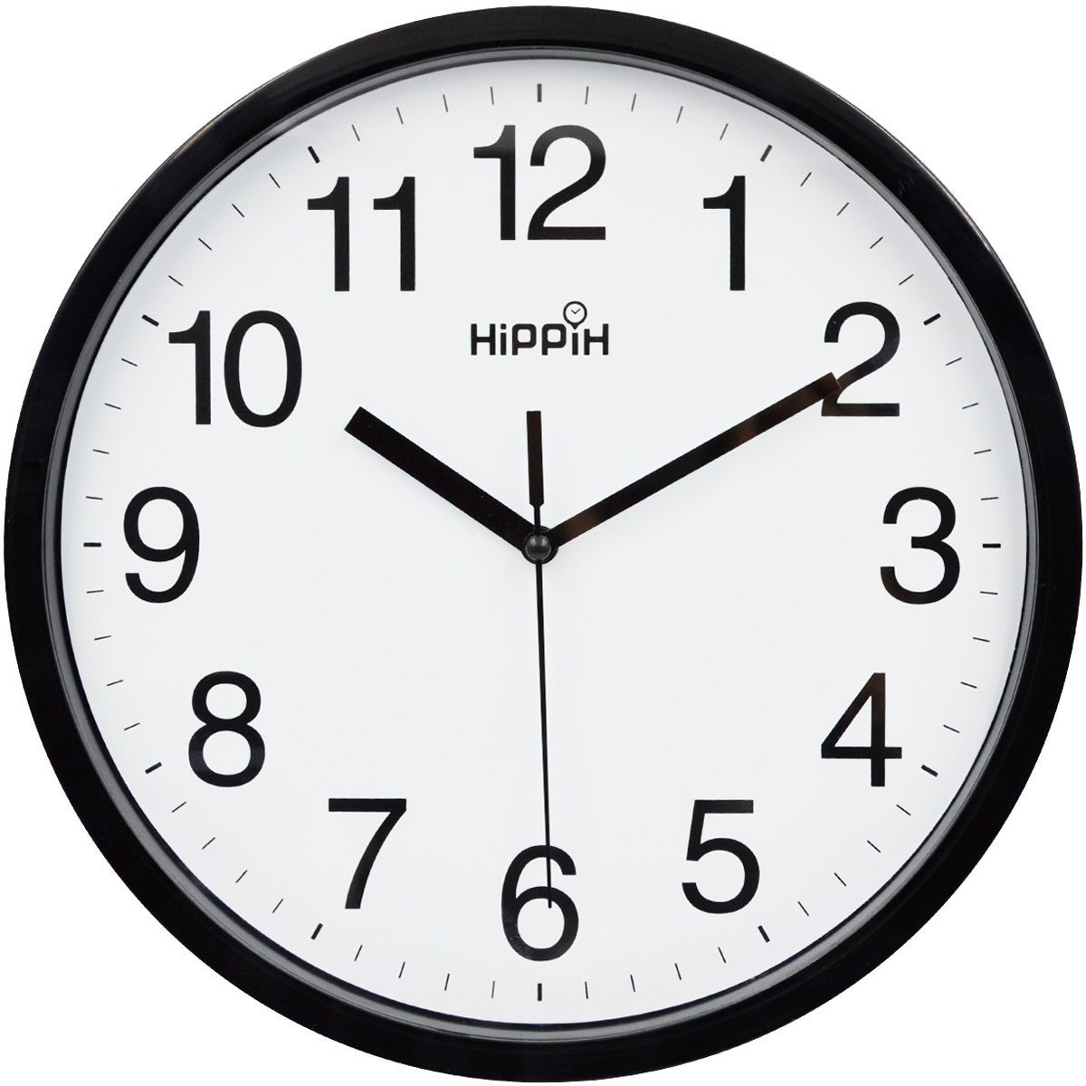 Shop amazon wall clocks hippih 10 silent quartz decorative wall clock non ticking digitalblack amipublicfo Gallery