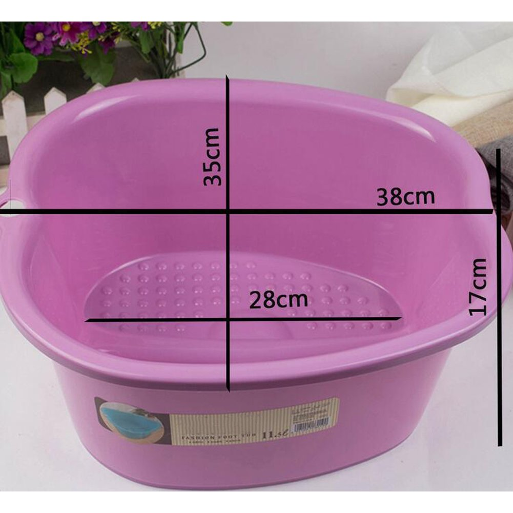 Foot Bath Spa,Water Spa and Foot Massage, Sturdy Plastic Foot Basin for Soaking Foot,Detox,Toe Nails, and Ankles,Pedicure,Portable Foot Tub-White by Ownest (Image #4)