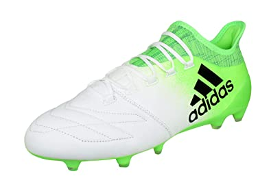 48c7c9ccb8a adidas X 16.1 Leather FG Mens Firm Ground Soccer Boots Cleats-White-9.5