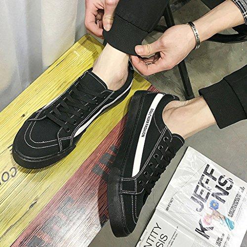 Scarpe Color estive scarpe passeggio casual scarpe da traspiranti nuove basse di uomo 41 Black Scarpe da Espadrillas tela uomo Brown da selvagge Size 0FwUqIn