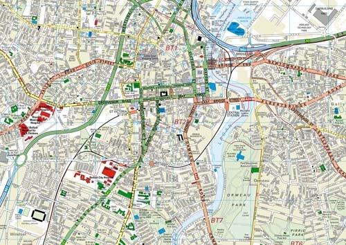 Belfast Streetfinder Colour Map: Amazon.co.uk: VARIOUS ...