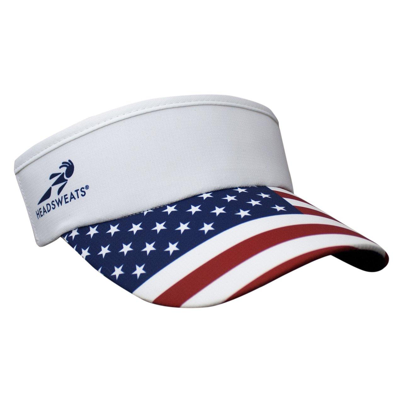 Headsweats Supervisor USA Flag Headwear, White, One Size 7703