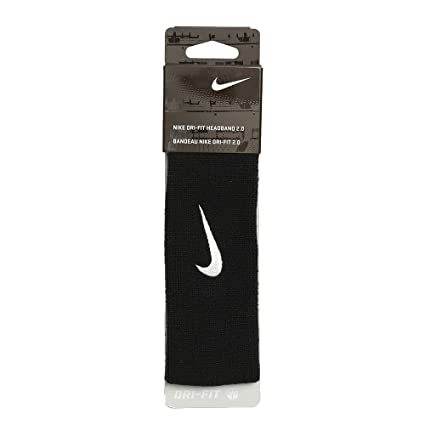 Amazon.com  Nike Dri-Fit Headband 2.0 (Black)  Sports   Outdoors bf274fac8e6