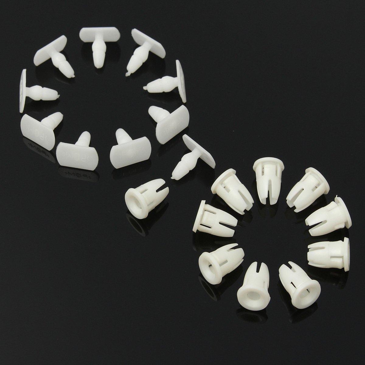 NICOLIE 10pcs Side Skirt Door Sill Card Panel Linning Repair Trim Clips For Mercedes Benz