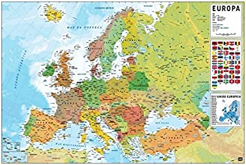 Grupo Erik Editores Karte Europa Pt Physical Felt Amazon Com