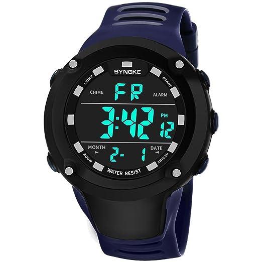 Relojes Hombre,❤LMMVP❤Multi función de los hombres deportes militares reloj LED digital