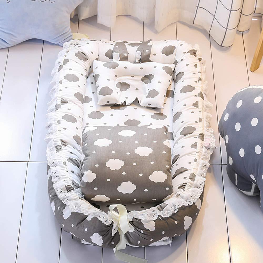 柔らかい赤ちゃんの巣 - 100%コットンポータブル通気性&低刺激性共同睡眠ベビーベッド - 睡眠と旅行に最適な取り外し可能なベビー繭寝袋   B07SMGHH5W
