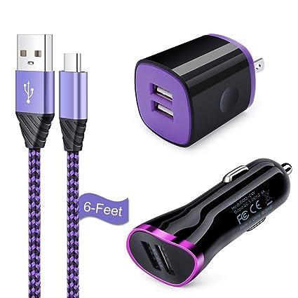 Amazon.com: Cargador de coche tipo C, Flecom Dual Port USB ...