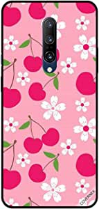 For OnePlus 7 pro Case Cover Pink Fruits & White Flowers