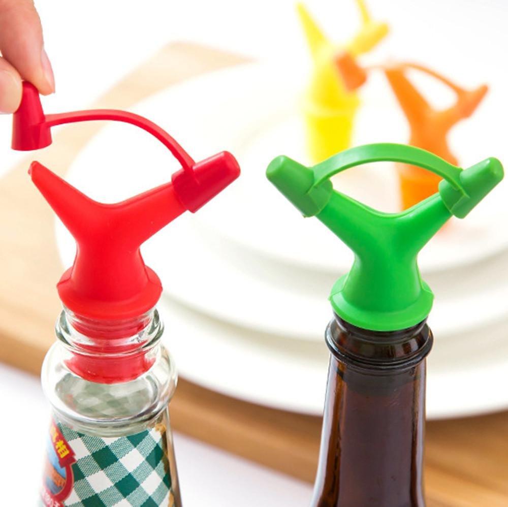 Clearance Sale!DEESEE(TM)Double Head Leakproof Soy Sauce Bottle Mouth Stuffed Vinegar Bottle Stopper (Orange) by DEESEE(TM)_Home (Image #4)