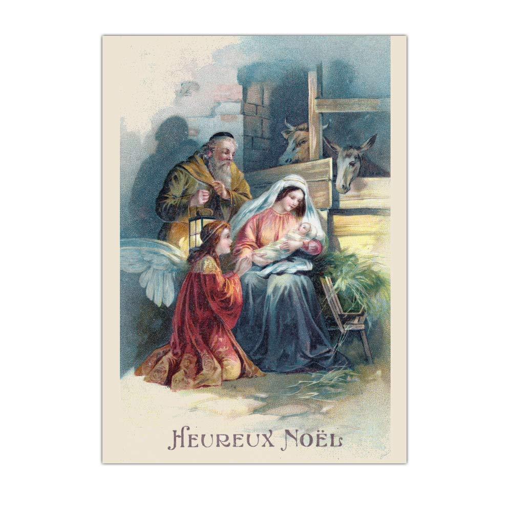 / Navidad y Natividad Tarjeta Noel Religiosa /Tarjeta feliz Navidad ➽ Dispo en 3/tama/ños 8 uds por paquete /8/tarjetas/