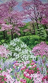 Amazoncom Timeless Treasures Botanic Garden Scenic Garden Fabric