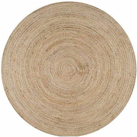 Jaipurtextilehub - Alfombra Redonda de Yute (150 x 150 cm, 100 ...