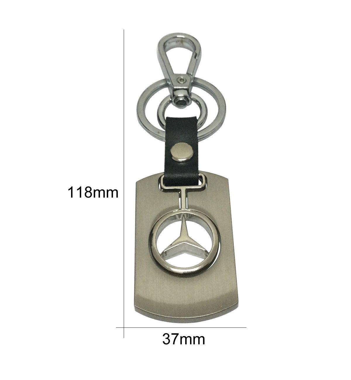 Chrome Crystal Keychain Key Ring Chain Holder Tag Fob