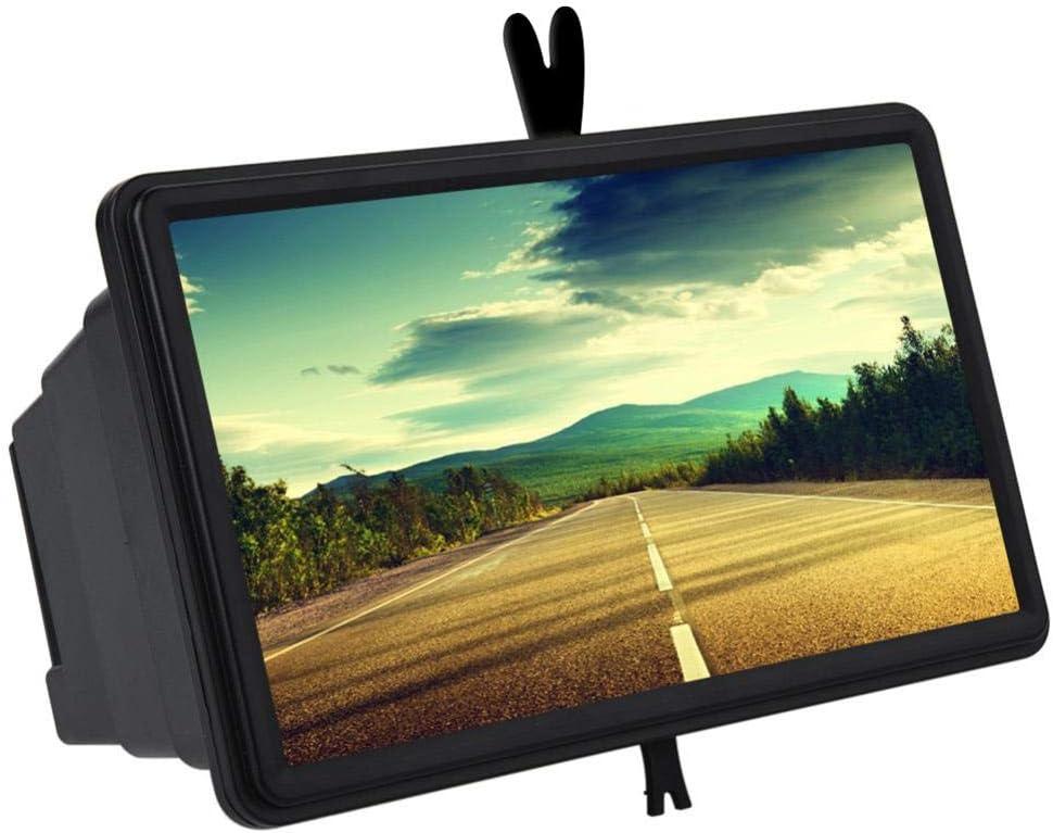 Pawaca - Amplificador de pantalla de 14 pulgadas para smartphone con lupa de cristal, para teléfono móvil, 3D, HD, con soporte plegable, para todos los teléfonos inteligentes, antirradiación: Amazon.es: Electrónica