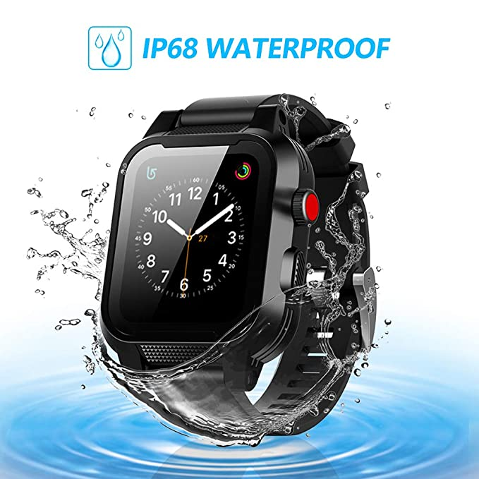 sneakers for cheap 4b937 d1f33 SYDIXON Apple Watch Waterproof case 42mm,only for Apple Watch Series 2 & 3  IP68 Waterproof case (Black)