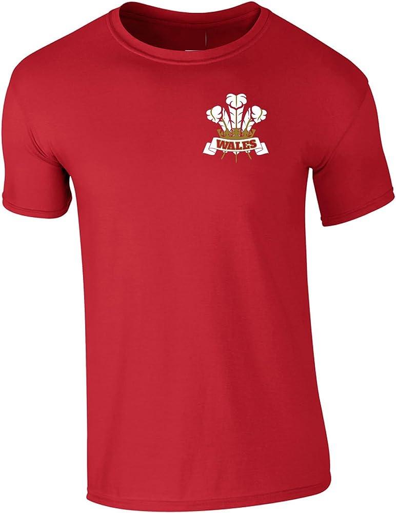 Polo del torneo de rugby de las 6 naciones con emblema de «Wales» y tres plumas para hombre hasta la talla 5XL Rojo rosso: Amazon.es: Ropa y accesorios