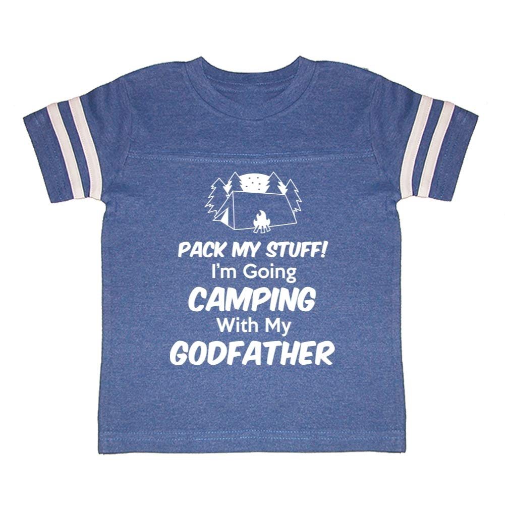 Toddler//Kids Sporty T-Shirt Pack My Stuff Im Going Camping with My Godfather