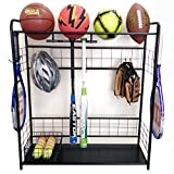ball rack - Sports Organizer-Hang bats, store balls, store outdoor shoes, keep all handy in one spot by HC