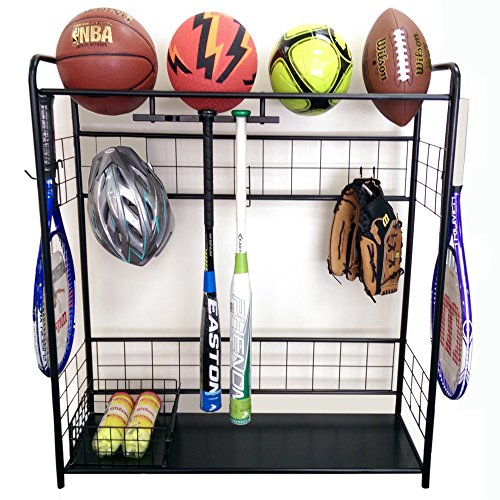 Sports Organizer-Hang bats, store balls, store outdoor shoes, keep all handy in one spot by HC