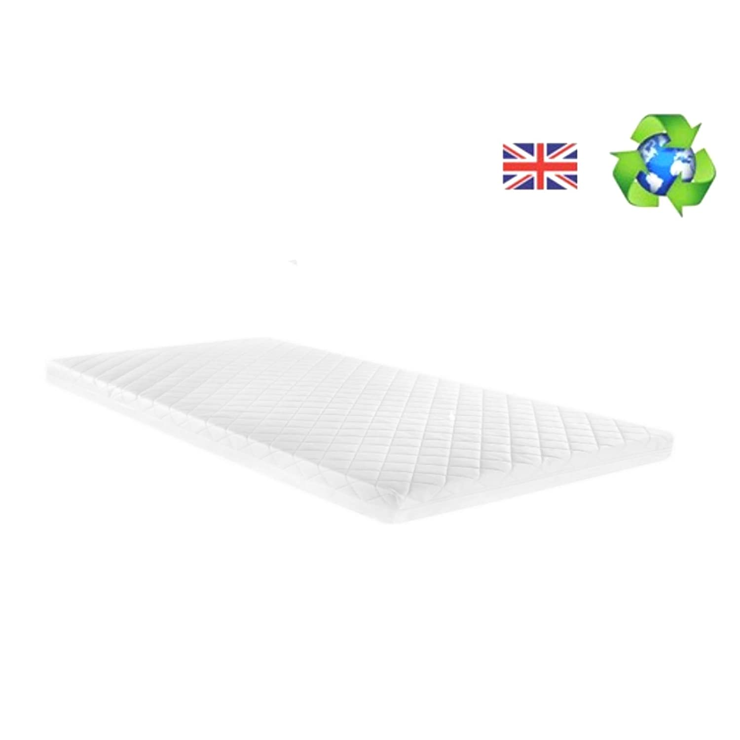 Chicco Next 2 Me Crib Hypoallergenic Deluxe Foam Quilted Mattress 83 x 50 x 5cm 4baby