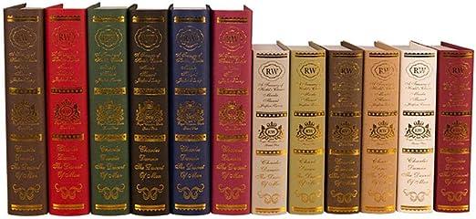 Ecisi Cajas de Libros Decorativos de época Caja de Libros de ...