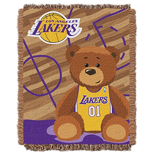The Northwest Company NBA Los Angeles Lakers Half Court Woven Jacquard Baby Throw, 36
